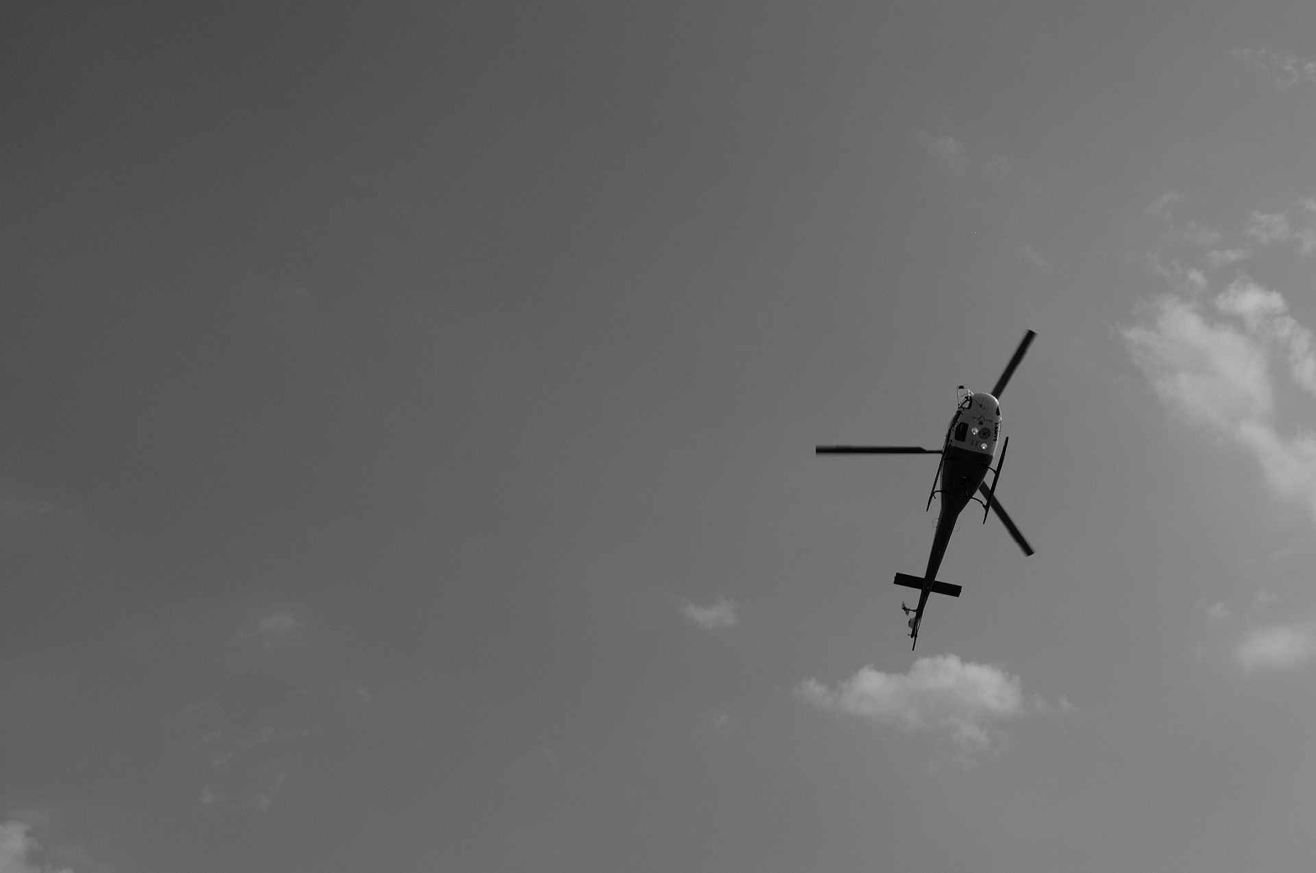 Helicopter In Air Background IMage